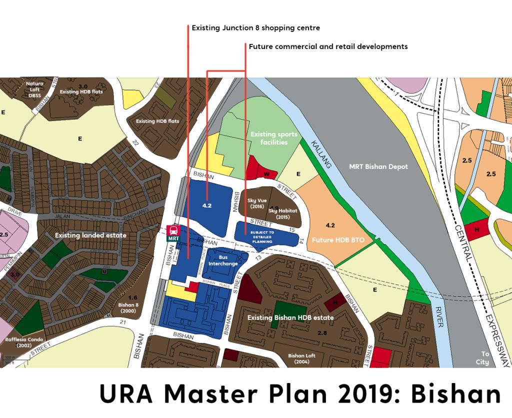 Tengah URA Master Plan 2019 map