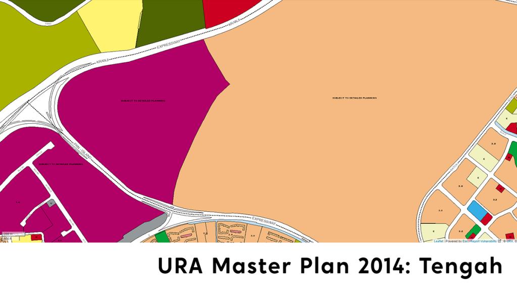 Tengah URA Master Plan 2014 map