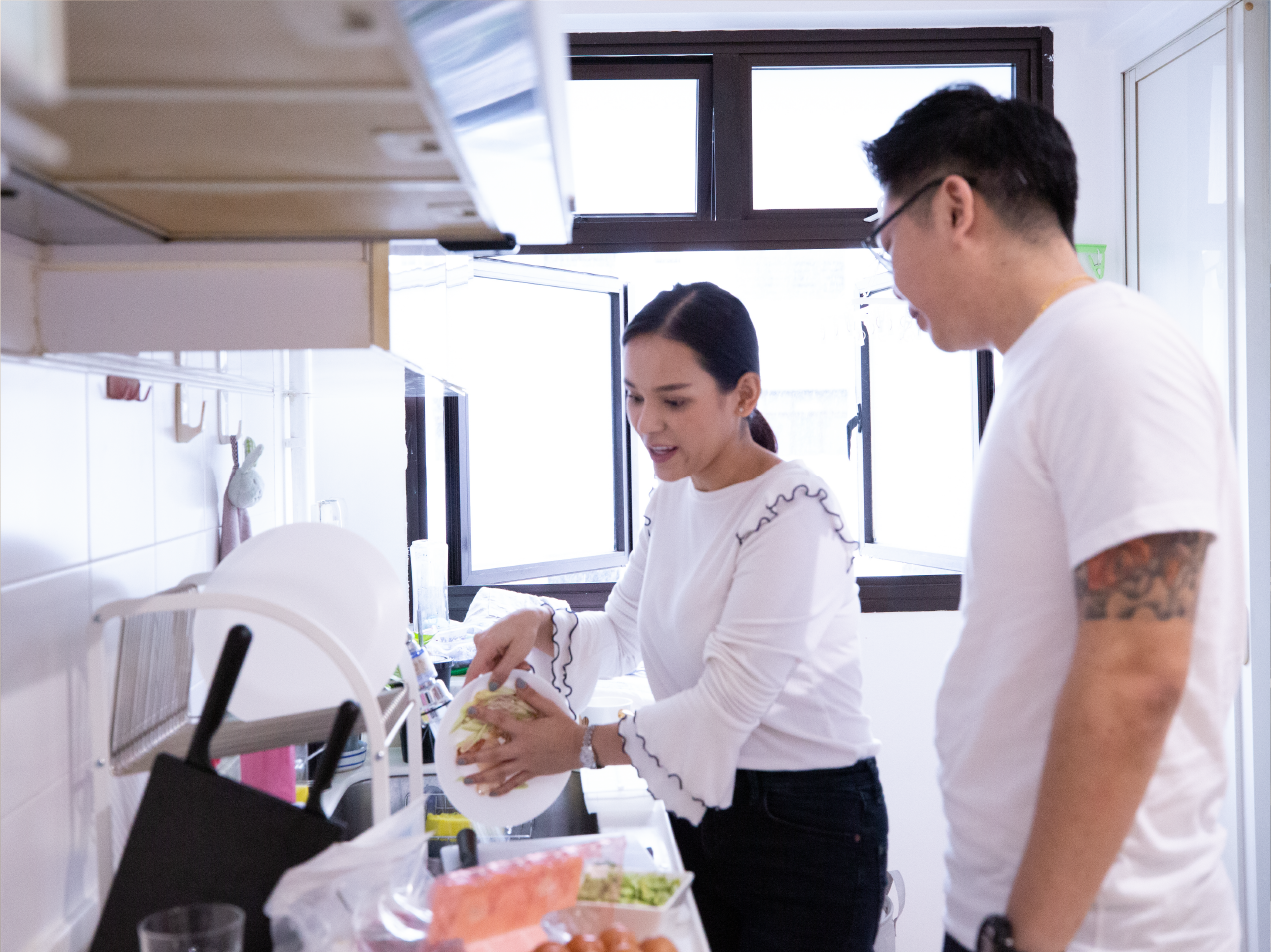 Derrick and Patricia can now cook in their home in Yishun