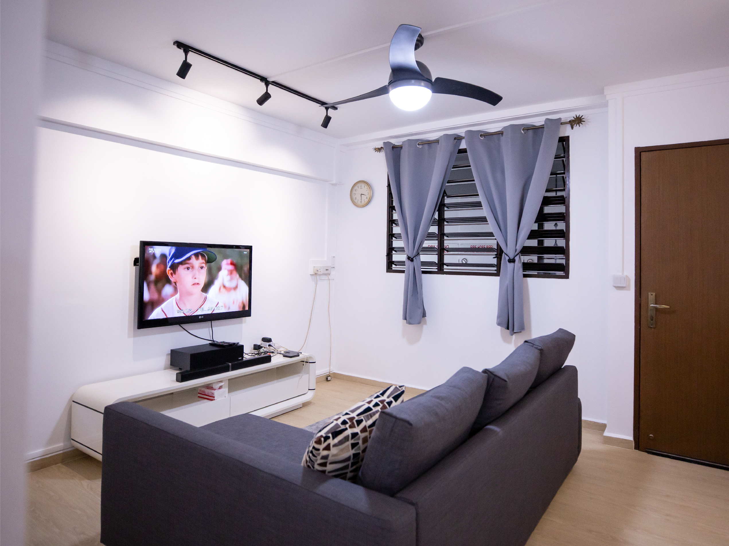 Living room of Derrick and Patricia's living room in Yishun