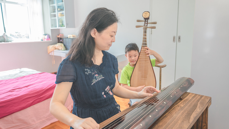 Rain is a music teacher and a Singapore PR who lives with their family in Lorong Chuan.