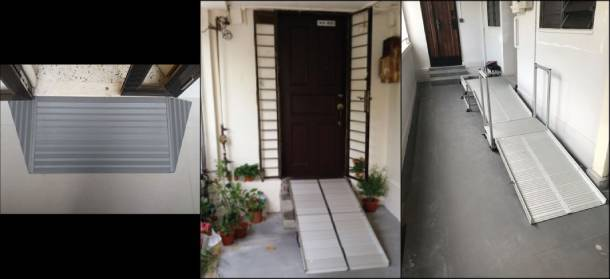 Ramps installed within and/or at the entrance of flats through the HIP's EASE improvements