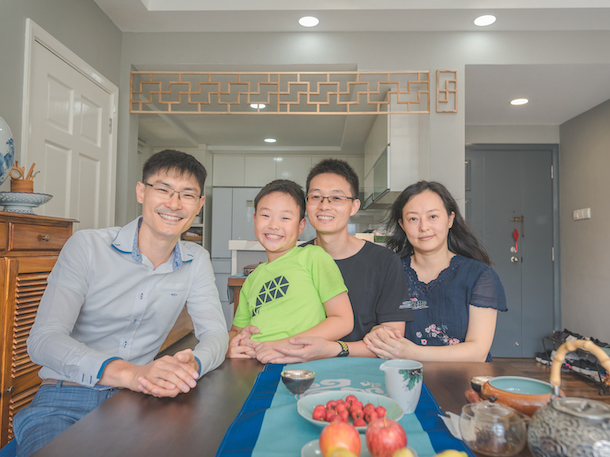 Song (middle) is an Electronics Engineer working for a tech MNC, while his wife, Rain (right), is a Music Teacher. Seasoned Agent Andass (left) helped the family to find their perfect home in Lorong Chuan.