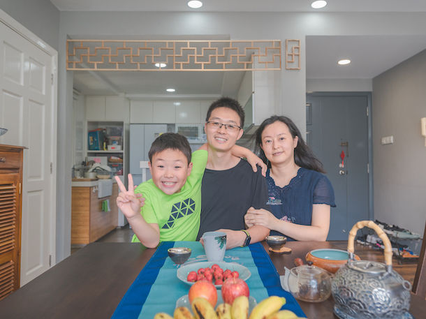 The Song family relocated from China to Singapore and now lives in a three-room apartment in Lorong Chuan