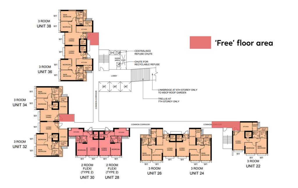 free space floor plan area condo hdb