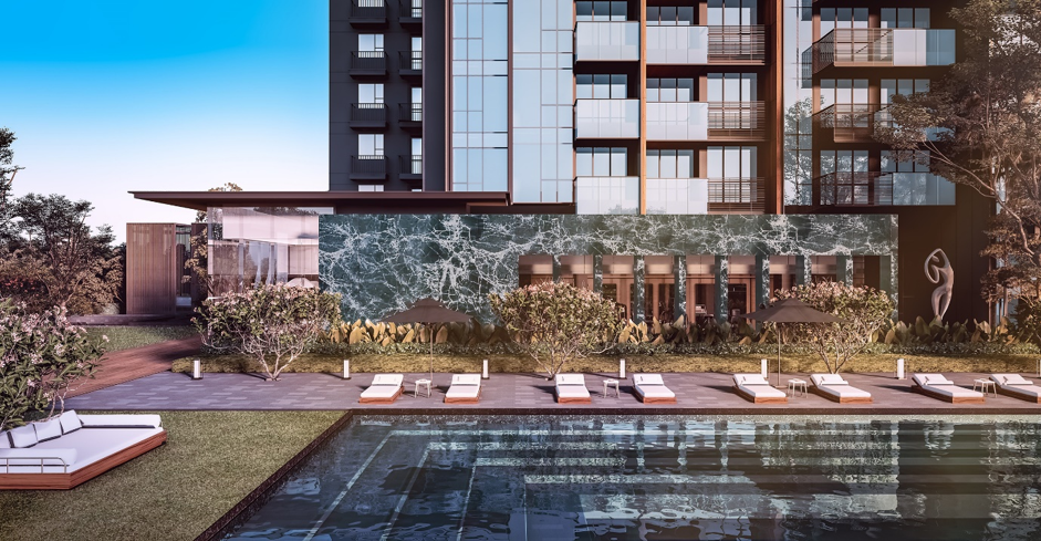 Leedon Green condo swimming pool