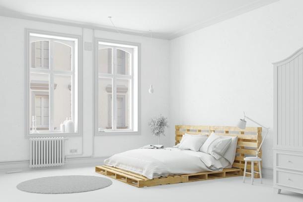 ไม้พาเลทตกแต่งห้องนอน