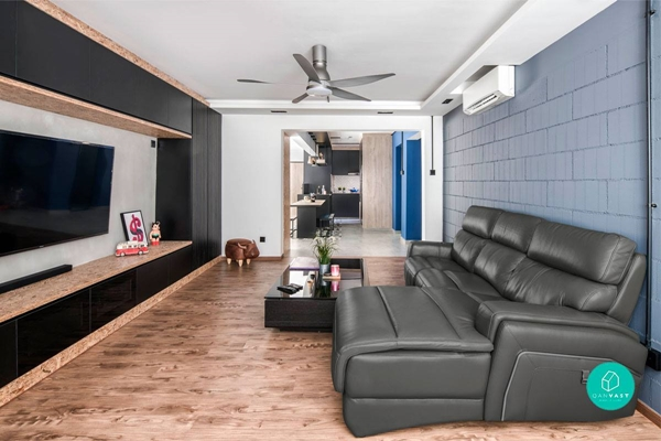 Make your TV the main focal point in the living room and arrange the seats so that there's a full view of the TV