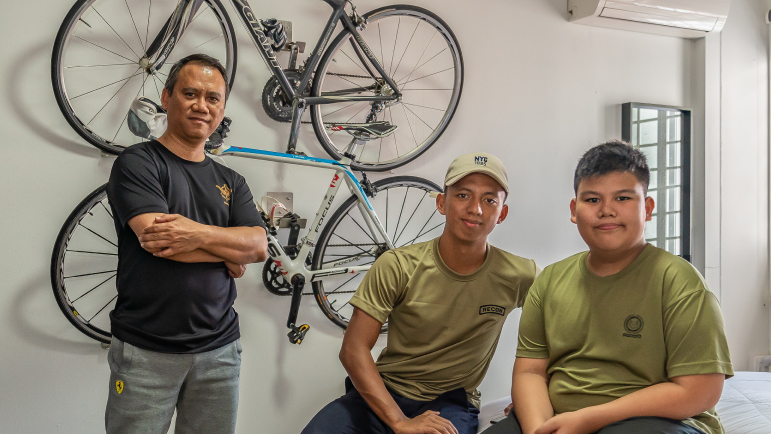 Sudirman lives with his two sons in their three-room resale flat in Yishun