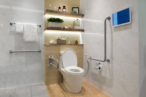 EASE programme helps to improve the safety in your toilet and washroom by including grab bars