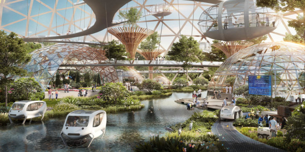 Artist Impression: Greater Southern Waterfront. Image Credit: CPG Consultants