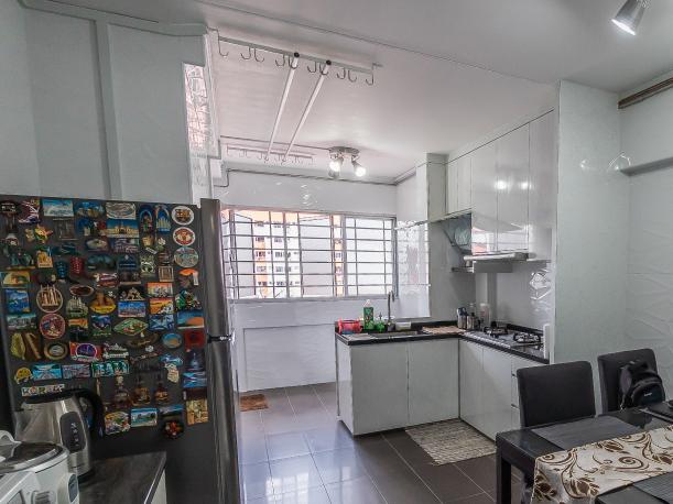 Kitchen of three-room Yishun flat