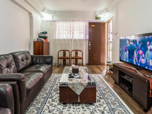 Living room of three-room resale flat in Yishun