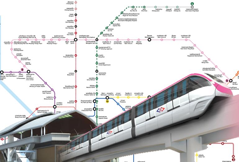 อัปเดตรถไฟฟ้าสายสีชมพู และทำเลที่น่าสนใจ