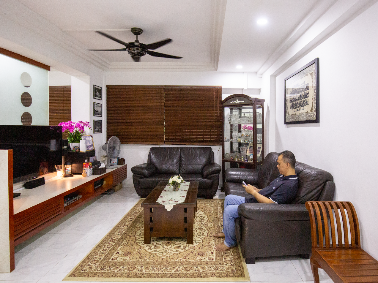 Living Area of four-room HDB flat in Woodlands belonging to Suhardi Norlina Home Stories