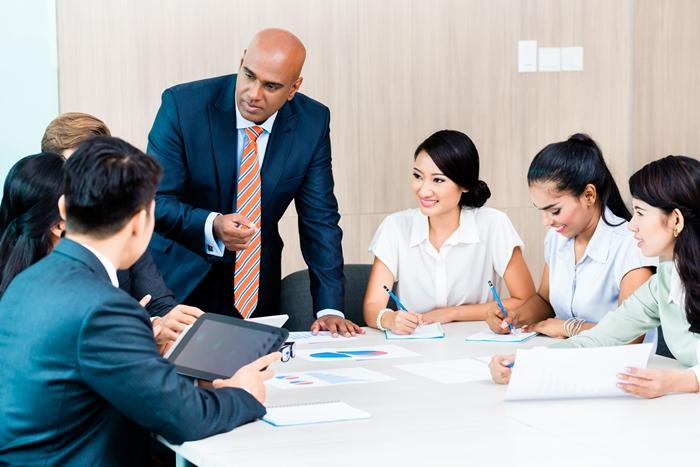 Office meetings before the coronavirus