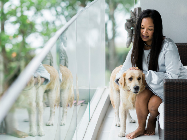 Michele Cabasug and her dog Home Stories