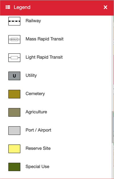 How to navigate around the URA Master Plan site