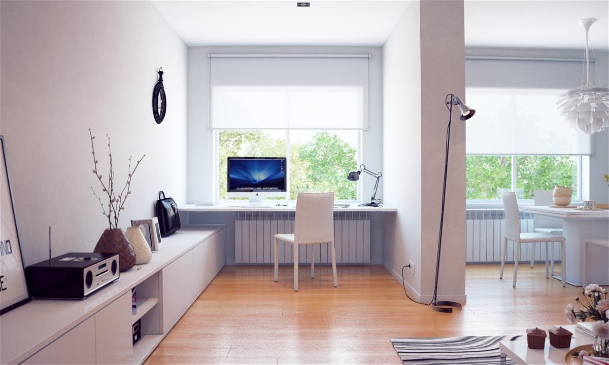 Walaupun di rumah, ruangan kerja yang nyaman perlu Anda ciptakan agar kerja tetap produktif. (Foto: home-designing.com)