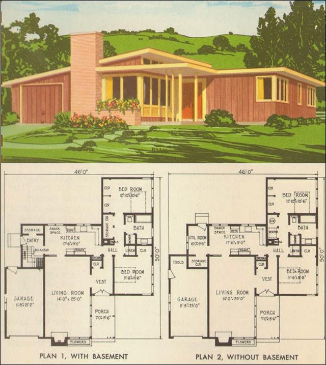 rumah minimalis Mid-Century Modern