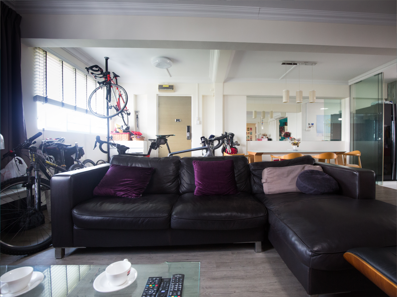 Living room of Michael's five-room resale HBD flat in Simei