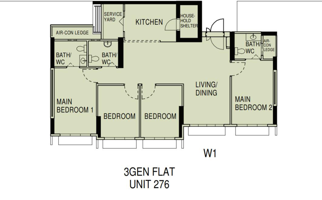 3Gen flat floor plan