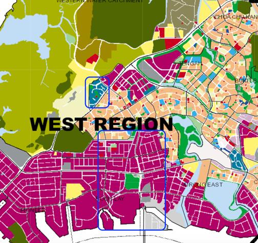 West Singapore URA Masterplan