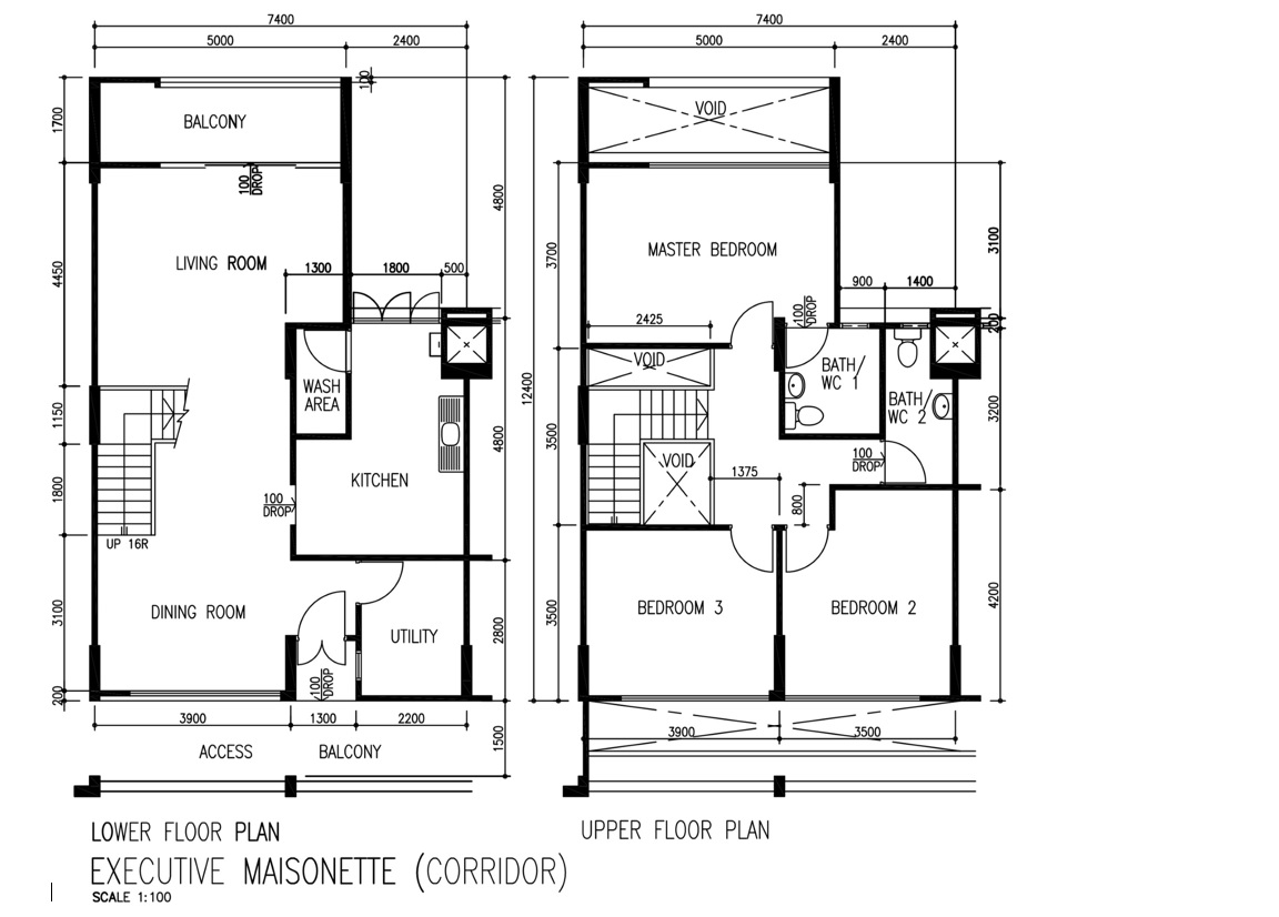 executive maisonette floor plan