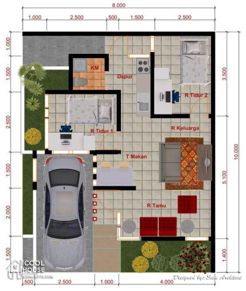 17 Ragam Desain Rumah Type 45 Minimalis Rumah Com