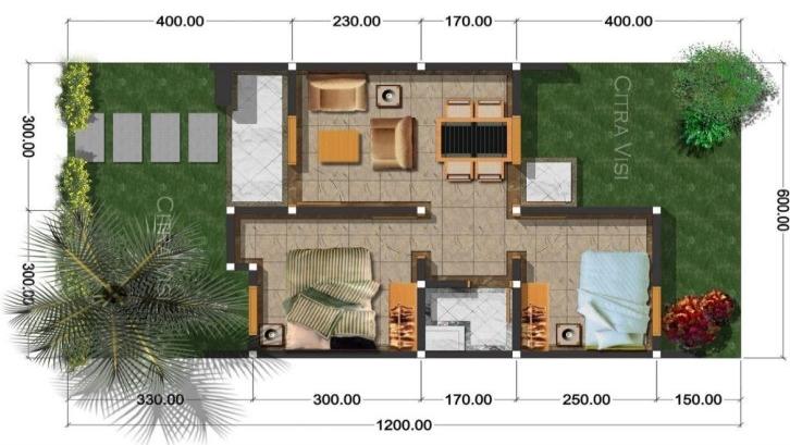 Denah Rumah Type 36/60 / Denah Ruangan Terbaik Pada Rumah ...