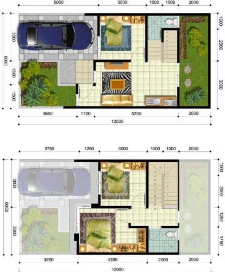 Denah Rumah Type 36/60 2 Lantai - Siapa Bilang Tipe Rumah ...
