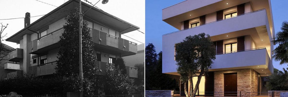 Rumah bertingkat 3 yang sudah usang bisa Anda renovasi kembali agar terlihat minimalis. (Foto: Homedit)