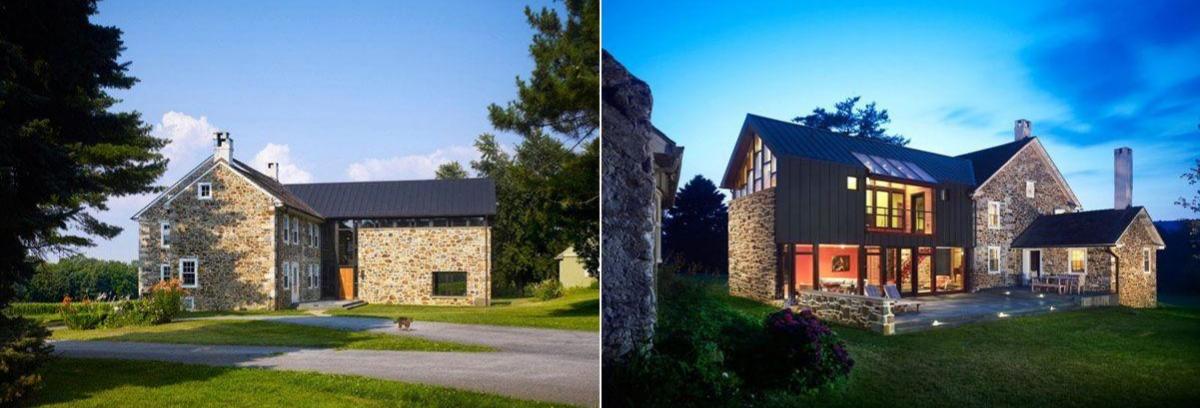 Permainan dinding batu dan cahaya lampu bisa membuat rumah menjadi terlihat mewah. (Foto: Homedit)