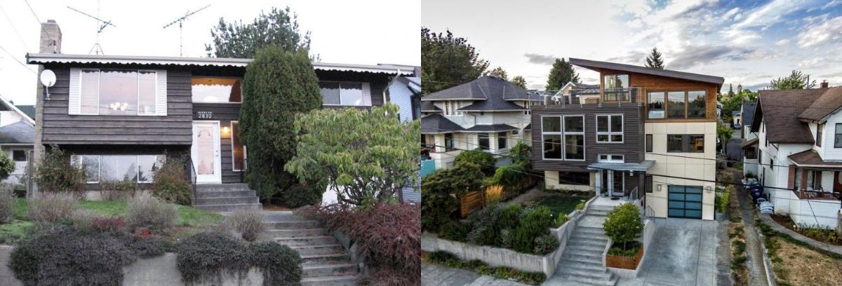 Ballard House yang direnovasi secara total membuat rumahnya menjadi terlihat sangat berbeda. (Foto: Homedit)