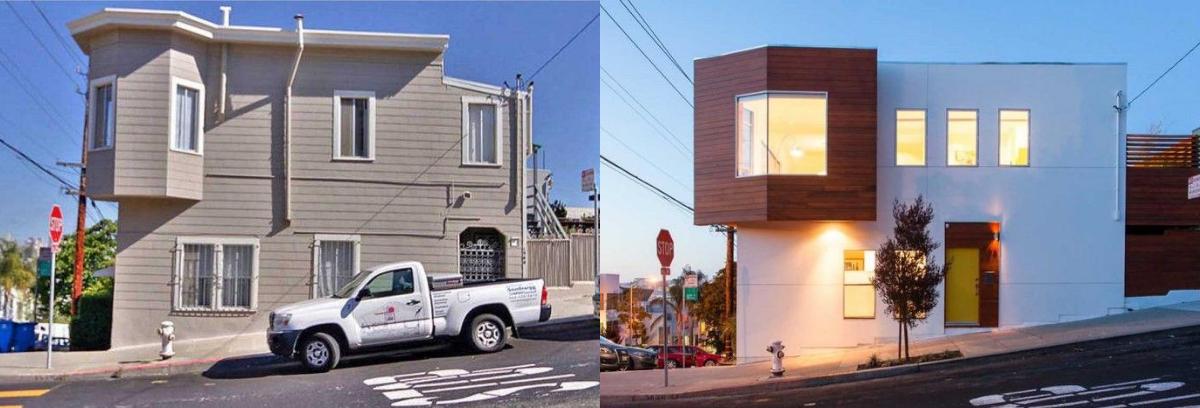Rumah hook yang terlihat usang bisa dikreasikan agar menjadi terlihat minimalis. (Foto: Homedit)