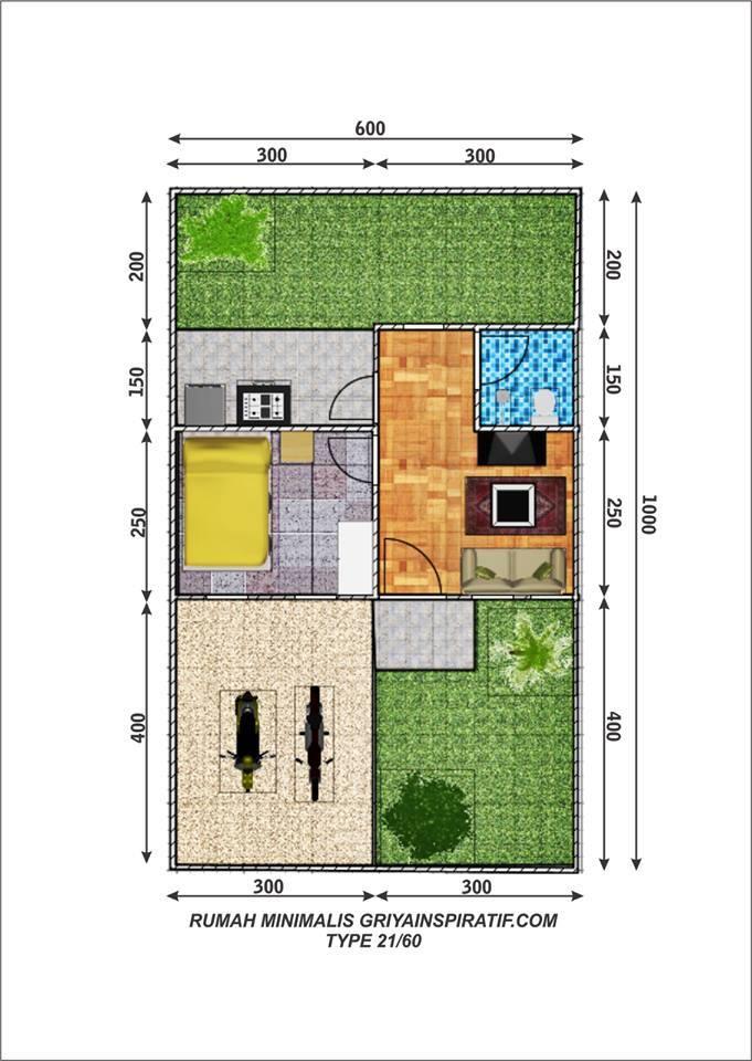 Kelebihan Rumah Tipe 21 Harga Ukuran Dan Denah Rumah Com