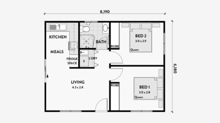 15 Gambar Denah Rumah Sederhana Yang Maksimal Rumah Com
