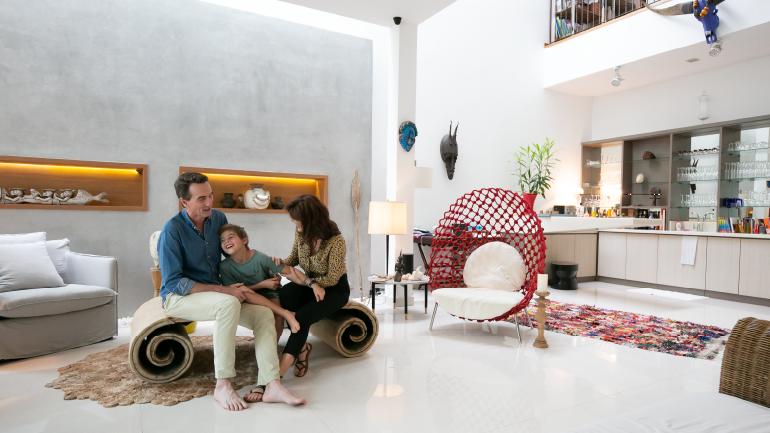 Laurent Verrier lives in Serangoon Garden with his family