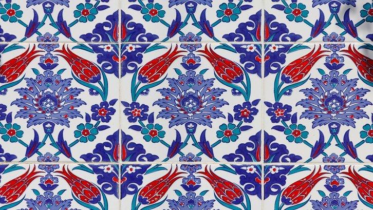 Keramik dengan motif printed. (Foto:Pixabay)