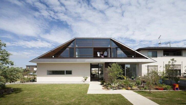 Atap perisai yang bentuknya seperti limas. (Foto: modushome.com)