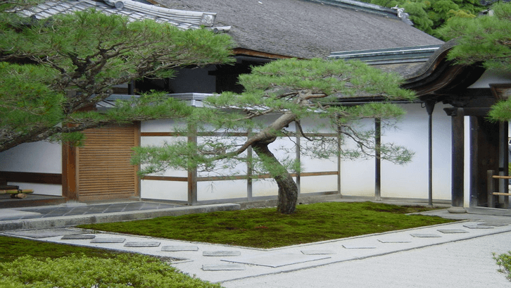 Halaman rumah tradisional Jepang. (Sumber: Pinterest)