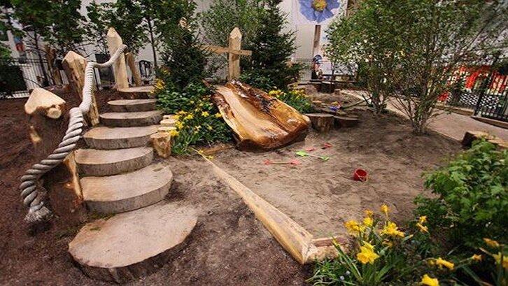 Taman rumah untuk anak. (Foto: Pinterest)