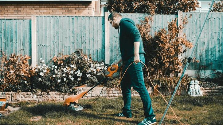 Pemangkasan rumput dan pembasmian gulma untuk perawatan rumput. (Sumber. Pexels)