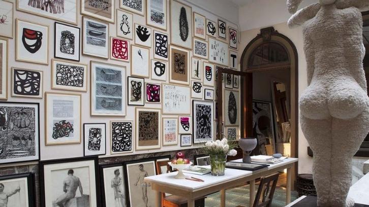 Karya seni bisa membuat suasana rumah menjadi lebih mewah. (Foto: Elle Decor)