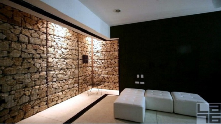 Dinding bronjong yang unik dan anti mainstream.(Foto: Alle Ideen)