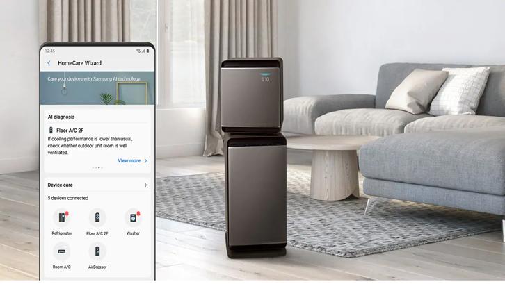 Smarthome system tersedia dalam wujud gadget maupun aplikasi. Sumber: Samsung.com