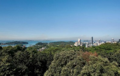 Aerial view of Mount Faber Park, which will be located near the May 2021 Bukit Merah BTO flats