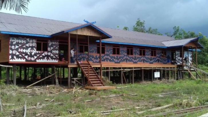 Rumah Betang Muara Mea berlokasi di sebuah desa yang bernama Muara Mea. (Foto: SILONTONG)