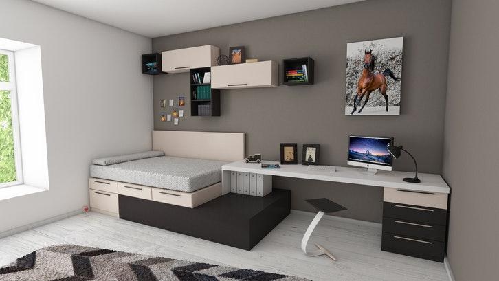 Kamar tidur sederhana dengan dekorasi clean cut.(Foto: Medhat Ayad/Pexels)