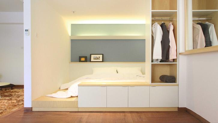 Kamar tidur walk-in closet rancangan Arkitekt.id. (Foto: Arkitekt.id/Arsitag)